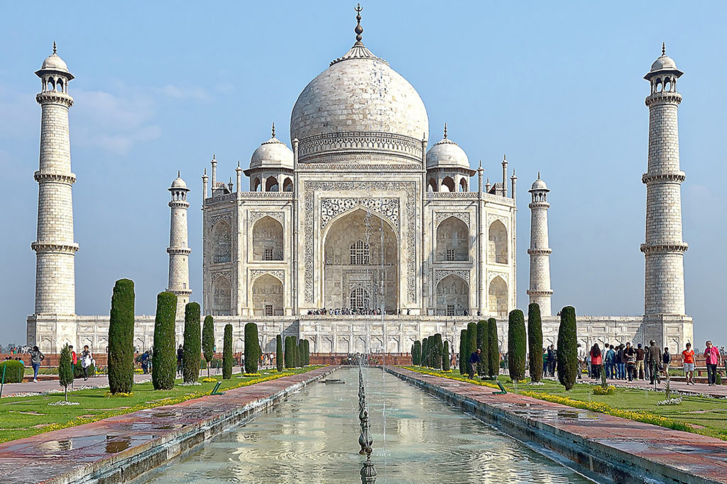 Close-up of the Taj Mahal in daylight, India