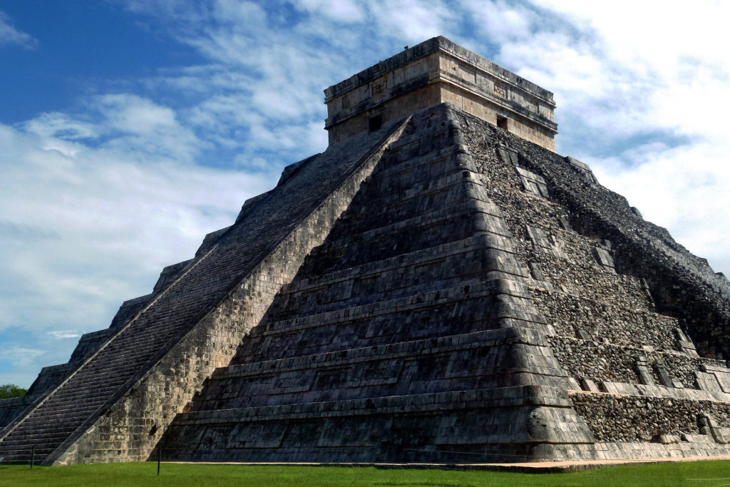 Ancient Mayan Temple in Mexico