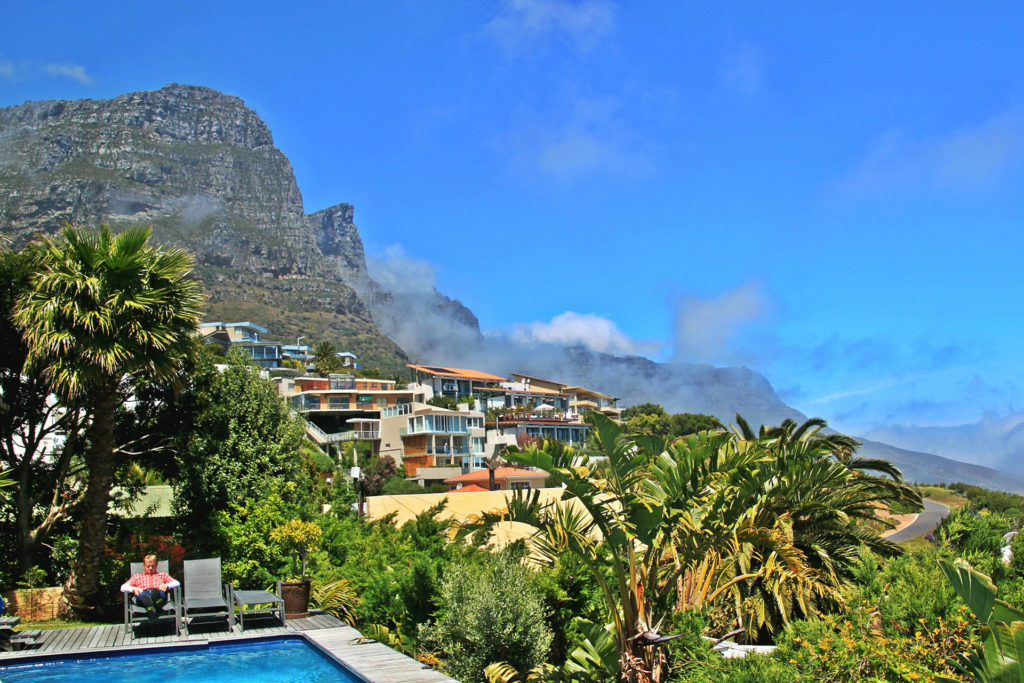 Majestic Table Mountain behind Cape Town