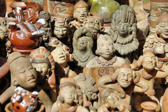 Market statues Otavalo Ecuador