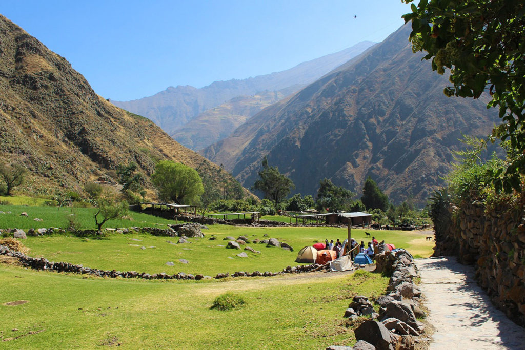 Salkantay trek campsite