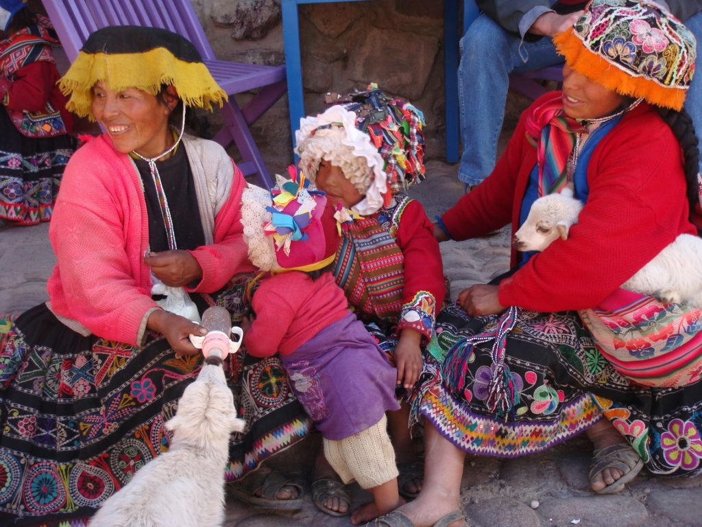 Locals at Ollantaytambo Markets