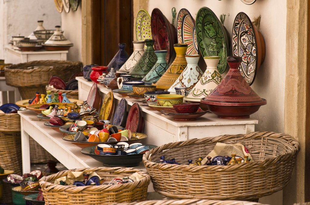 Pottery shop in Morocco